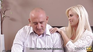 DADDY4K. Superb chick wanted more leaning old prick...