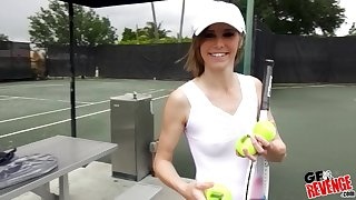Tennis player Ella Woods gets their way pussy plowed after their way match