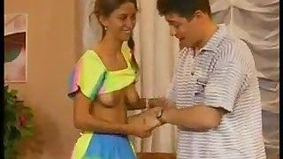 Hot retro porn video with latina teen