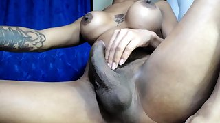 Latin Big Cock Fucks Shemale Big Ass with Cumshots