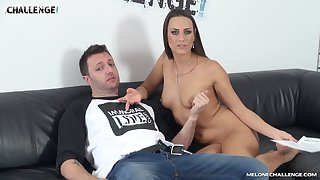 Brunette Mea Melone makes the newcomer wanna explode
